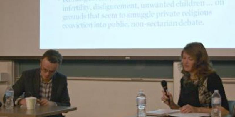 Maaike in a debate